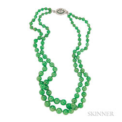 Jadeite Bead Necklace
