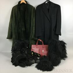 Group of Fashion Accessories, Coats, and Shoes