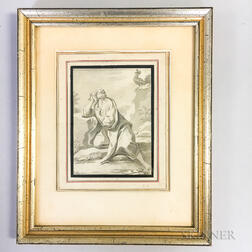 Framed Drawing of St. Sebastian
