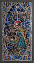 Burnham Studios Nativity Stained Glass Window