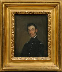 Attributed to Chester Harding (Massachusetts, 1792-1866      Portrait of Colonel John Basil Clarke.