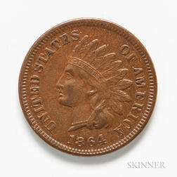 1864 L on Ribbon Indian Head Cent