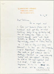 Milne, A.A. (1882-1956) Autograph Letter Signed 13 October 1938.
