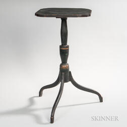 Black-painted Candlestand