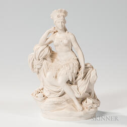 Sevres Parian Allegorical Figure of a Continent