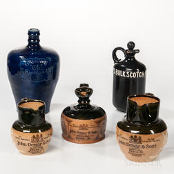 Five Royal Doulton or Doulton Lambeth Scotch-related Ceramic Items