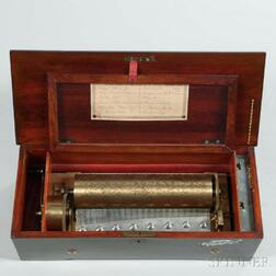 Lever-wind 3-inch Diameter Cylinder Musical Box