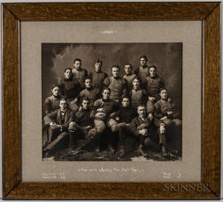 Harvard Crimson Varsity Football Team Photographs, 1898 and 1899.