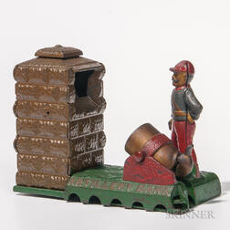 "Cast Iron Mechanical ""Artillery Bank,"""