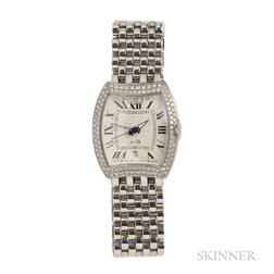 """Lady's Stainless Steel and Diamond """"No. 3"""" Wristwatch, Bedat & Co."""