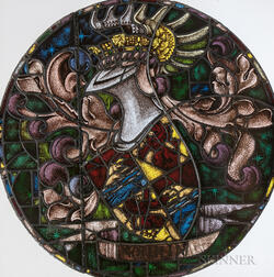 Stained Glass Roundel of an Armorial