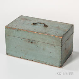 Powder Blue-painted Storage Box