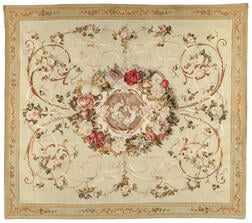 Silk and Wool Aubusson Tapestry