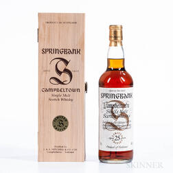 Springbank 25 Years Old, 1 70cl bottle (owc)