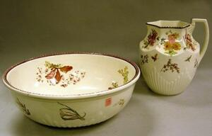 Wedgwood Queen's Ware Pitcher and Basin