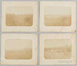 Four Civil War Salt Prints of Encampment Views