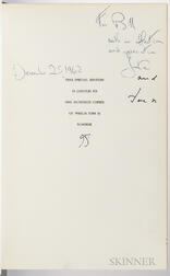 Kennedy, John Fitzgerald (1917-1963) and Jacqueline Lee Bouvier Kennedy (1929-1994) The White House, an Historic Guide, Signed Presenta