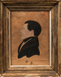Attributed to Amos M. Holbrook (American, act. 1830-1831)      Profile Portrait of a Gentleman