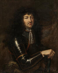 French School, 17th/18th Century Style      Nobleman in Armor