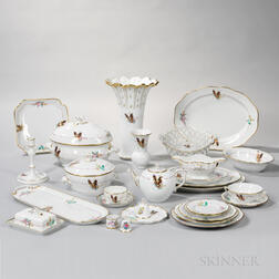 145 Pieces of Herend Porcelain Tableware