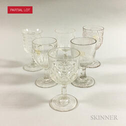 Thirty-eight Colorless Pressed Glass Goblets.     Estimate $150-250