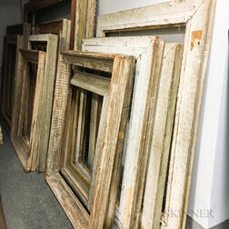 Eighteen Large White-painted Frames
