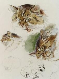 Ferdinand Oger (French, 1872-1929)  Cat Studies