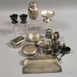 Assorted Small Silver and Silver-plated Articles