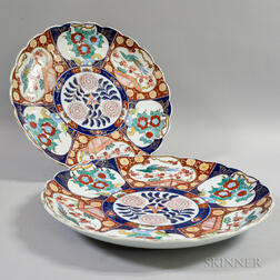 Two Imari-palette Ceramic Chargers