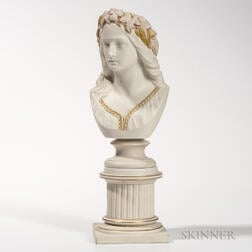 Copeland Parian Bust of Ophelia