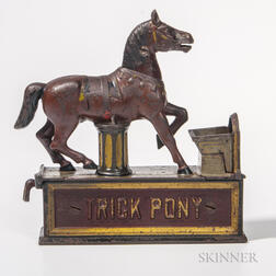 "Cast Iron Mechanical ""Trick Pony"" Bank"