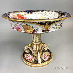 Imari-palette Bird-decorated Paris Porcelain Centerpiece