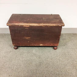 Small Red-painted Pine Box