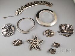 Group of Mostly Signed Sterling Silver Jewelry