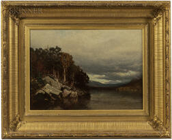 Alexander Helwig Wyant (American, 1836-1892)      Adirondacks-Early Autumn