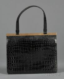 Vintage Alligator Handbag, Cartier Ltd., London