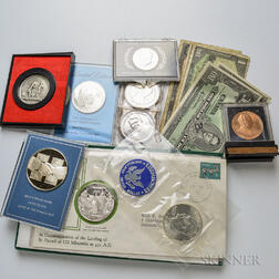 Group of American and Foreign Coins and Currency
