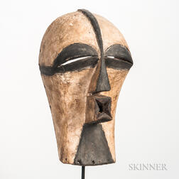 Songye-style Carved and Painted Wood Kifwebe Mask