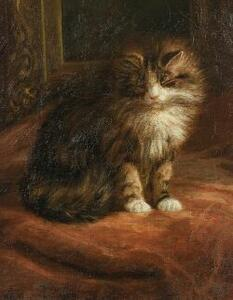 Franklin W. Rogers (American, 19th/20th Century)  Sleepy Tabby