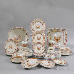 Set of Twenty-seven Chinese Export-style Porcelain Tableware Items