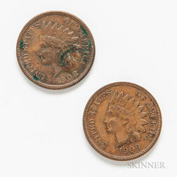 1908-S and 1909-S Indian Head Cents