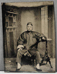 Sixth-plate Tintype of a Chinese Man