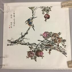 Painting Depicting Two Birds