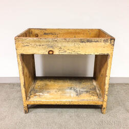 Country Grain-painted Pine Dry Sink