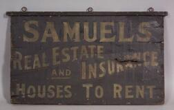 Painted Double-Sided Trade Sign
