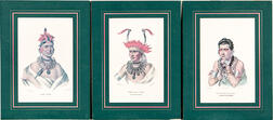 Three Lehman & Duval Lithographs of Native Americans