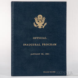 Kennedy, John Fitzgerald (1917-1963) and Lyndon B. Johnson (1908-1973) Official Program Inaugural Ceremonies, Limited Edition Presentat