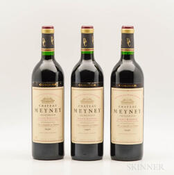 Chateau Meyney 1990, 3 bottles