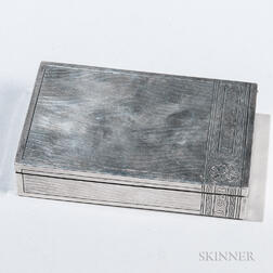 Russian .875 Silver Cigar Box