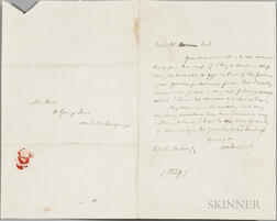 Scott, Sir Walter (1771-1832) Autograph Letter Signed, 21 May 1829.